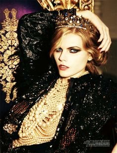 Maryna Linchuk by Ellen von Unwerth, Vogue Turkey 12/10