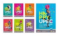 Happy Upec 2012 Poster by Graphéine, via Behance
