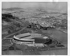 Candlestick Park, 1960, looking north across the City.