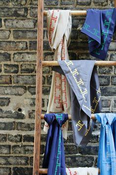 pañuelos en escalera toallero