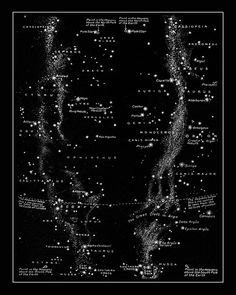 Milky Way Constellations Print - UNFRAMED  Take your wall decor to another dimension with our retro cool celestial print representing the Milky Way and