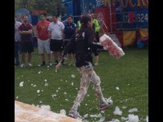 Amy leaving the foam