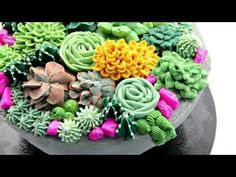 Nice piping tutorial!!!  Buttercream Succulent Cake Decorating - CAKE STYLE - YouTube