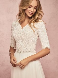 modest wedding dress Rebecca Ingram Connie Leigh - Buy a Rebecca Ingram Wedding Dress from Bridal Closet in Draper, Utah mybridalcloset-dev Wedding Dresses Photos, Modest Wedding Dresses, Designer Wedding Dresses, Bridal Dresses, Wedding Gowns, Wedding Ceremony, Lace Wedding, Maxi Dresses, Bridal Closet