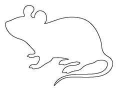Mouse pattern. Use the printable outline for crafts, creating stencils, scrapbooking, and more. Free PDF template to download and print at http://patternuniverse.com/download/mouse-pattern/