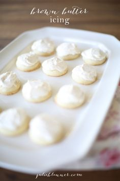 Irresistible brown butter icing  for cookies and cakes