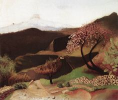 Tivadar Kosztka Csontvary Blossoming Almonds Landscape in Italy 1902 Watercolor Landscape, Landscape Art, Landscape Paintings, Spanish Artists, Dutch Artists, Contemporary Artists, Modern Art, Post Impressionism, Art Institute Of Chicago