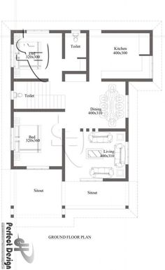 Two Bedroom Modern Bungalow House - Pinoy House Designs - Pinoy House Designs 2bhk House Plan, Three Bedroom House Plan, Model House Plan, Dream House Plans, House Floor Plans, 2 Storey House Design, Bungalow House Design, Small House Design, 20x30 House Plans