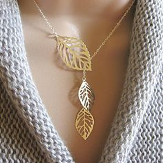 Sweet (Leaf Pendant) Multicolor Alloy Pendant Necklace(Gold,Silver) (1 Pc) – USD $ 4.99