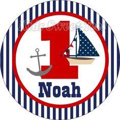 Nautical birthday   personalized  digital image by kidssweettees, $2.50