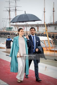 Prince Carl Philip and Princess Sofia attend a lunch on the Royal yatch, Norge, on the ocassion of the celebration of King Harald and Queen Sonja 80th birthdays on May 10, 2017 in Oslo, Norway.