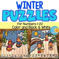 Your students will enjoy the extra practice they get with these cute Number Sequencing Puzzles! There are 7 different designs, each a full page and come in COLOR and BLACK & WHITE! The first group of puzzles is for the Numbers 1-10 and the second group is for the Numbers 11-20.