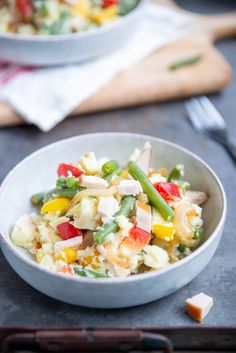 Sperziebonenstamppot met gerookte kip Potato Salad, Healthy Recipes, Healthy Food, Potatoes, Fruit, Ethnic Recipes, Camping, Foods, Salads