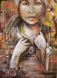 Alice Pasquini, SEE ME GROW on ArtStack #alice-pasquini #art # available at 44309 STREET//ART GALLERY
