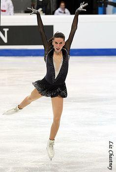Valentina Marchei- Black Figure Skating / Ice Skating dress inspiration for Sk8 Gr8 Designs.