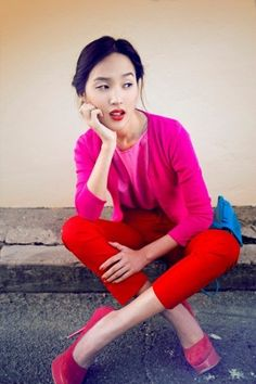 Farbkombinationen: Pink und Rot
