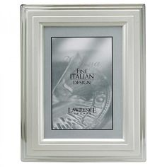 """Lawrence Frames 8"""" x 10"""" Picture Frame with Stepped Border in Silver - 720080"""