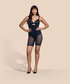 Sculptwear is the Next Generation of Shapewear by HoneyLove - Smart Compression provides superior tummy toning, leg slimming and bottom shaping. SoftFlex structures support posture and and ensure Sculptwear never rolls down. Chic Over 50, Posture Support, Thick Girl Fashion, Short Black Hairstyles, Spanx, Super Powers, Fashion Outfits, Womens Fashion, Shapewear