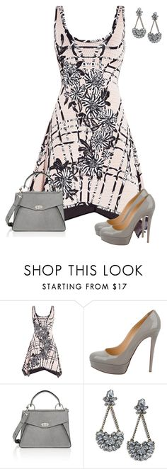 """Untitled #773"" by angela-vitello on Polyvore featuring Hervé Léger, Christian Louboutin, Proenza Schouler and LULUS"