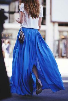 eu adoro essas saias longas!
