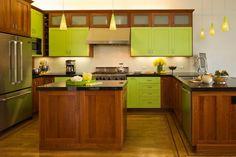 contemporary walnut kitchen cabinets - Google Search