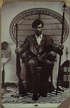 Huey P. Newton (1942-1989) founded the Afro-American Society and was a co-founder of the Black Panther Party, serving as its minister of defense during much of the 1960s. Later he turned to community service for the poor.