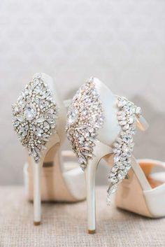 Beautiful detail wedding heels