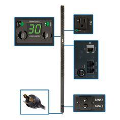 Tripp Lite PDU Switched 120V 30A 5-15/20R 24 Outlet L6-30P Vertical 0 #PDUMVR30NET