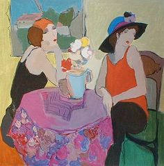 Gossip (34x30 serigraph)view more by Itzchak Tarkay