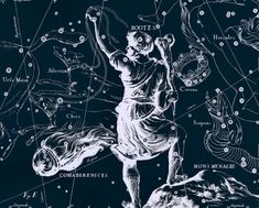 Constellation of Bootes Constellation Galaxy by AstrologyZodiac, $10.99