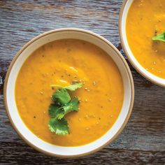 Creamy Chia Coconut Ginger-Carrot Soup