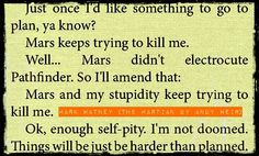 The Martian by Andy Weir #bookquoteguidz