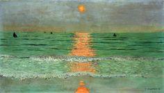 Felix Vallotton - Sunset. Coucher De Soleil - art prints and posters