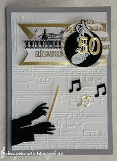 Stampin Up gold anniversary jubiläum 50 dirigent music musik
