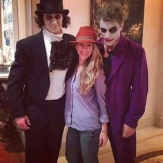 JBJ as the Joker and his son Jesse as the penguin. ...nailed it!!!