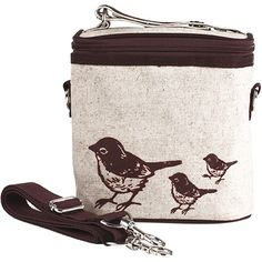 Brown Birds Large Cooler Bag- SoYoung - eco-friendly bags and accessories  for the modern family - designed in Canada b5621adc3cb4c