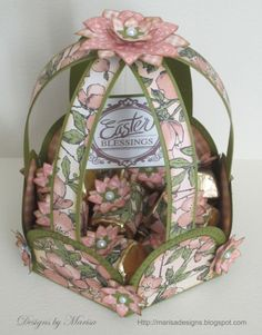 Beautiful Once Upon a Springtime Easter Basket by @Marisa Job #graphic45 #easter