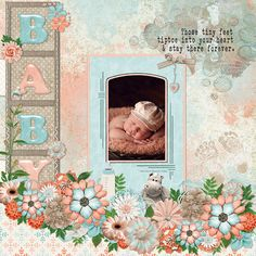 I love the new Jan 2016 Collab kit that is free with purchase at GDS. It is so cute with so many items to create a perfect layout of your angel!  It can be found here....  http://www.godigitalscrapbooking.com/shop/index.php?main_page=product_dnld_info&cPath=129&products_id=26581  Tube credit: Tubed by Castorke. (FTU)