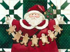 CHRISTMAS SANTA AND GINGERBREAD