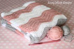 Free Crochet Pattern - Ripple Baby Blanket - Daisy Cottage Designs ༺✿ƬⱤღ  https://www.pinterest.com/teretegui/✿༻