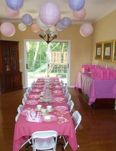 Princess Tea Party- Girls Night for the summer