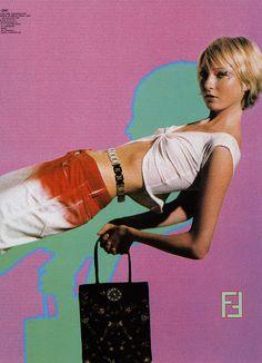 Fendi by Karl Lagerfeld, 2000 Look 80s, 2000s Fashion, Fall Fashion, High Fashion, Fashion Tips, My Vibe, Foto Pose, Poses, Zine