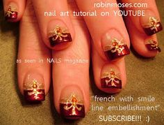 red and gold indian wedding nail art nails  http://www.youtube.com/watch?v=owrUa8D2Bf0