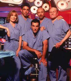Chicago Hope (1994–2000) original cast--Roxanne Hart, Adam Arkin, Mandy Patinkin, Hector Elizondo, E.G.Marshall