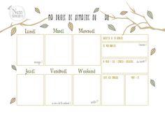 Semainier → planning hebdo → à imprimer gratuitement.