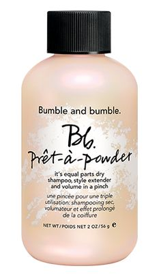 I've been testing this product for an upcoming Real Simple story, and I think it's genius in all of its uses: a dry shampoo, a volumizer, and a style extender. Just tap a little (seriously: a little) of the powder onto your roots, then vigorously massage it in. Away goes any second-day oiliness, and your hair gets an instant lift.