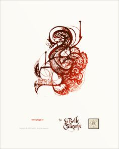 La Belle Caligrafie by PeGGO , via Behance