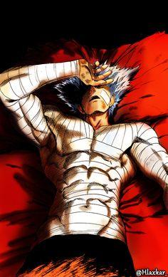 Garou - The Hero Hunter Digitally Coloured the cover page of One Punch Man ch. Garou looks sexy. One Sexy Man OnePunch Man One Punch Man 1, Anime One Punch Man, Saitama One Punch Man, Anime Villians, Anime Characters, Fictional Characters, Anime Manga, Anime Guys, Anime Art