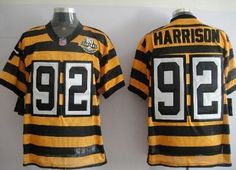 24077e67f ... Nike Pittsburgh Steelers 92 James Harrison Yellow With Black Throwback  80TH Jersey ...