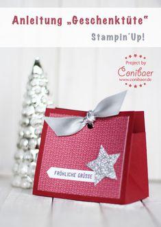 www.conibaer.de Anleitung für eine kleine Geschenktasche #video #youtube #kleinesgeschenk #geschenkverpackung #stern #selbstgemacht #handgemacht - Tutorial for a small gift bag #diy #giftwrapping #smallgift #star